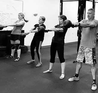 Kettlebell swing at tribestrength.