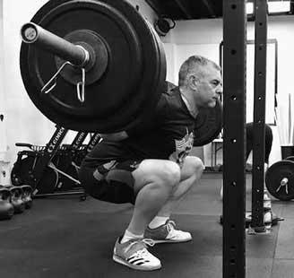 J Gagnon doing back squat