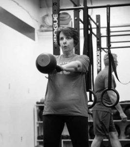 Evangeline R. kettlebell swing