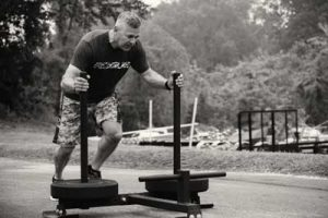 G. Horne pushing Prowler sled