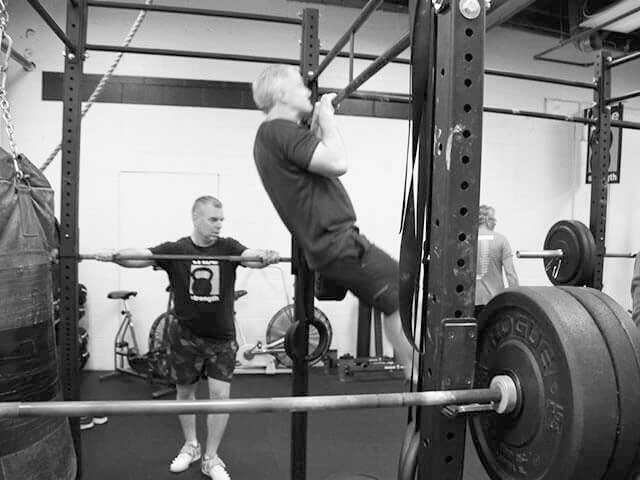 Pull-up on ROGUE rig at tribestrength